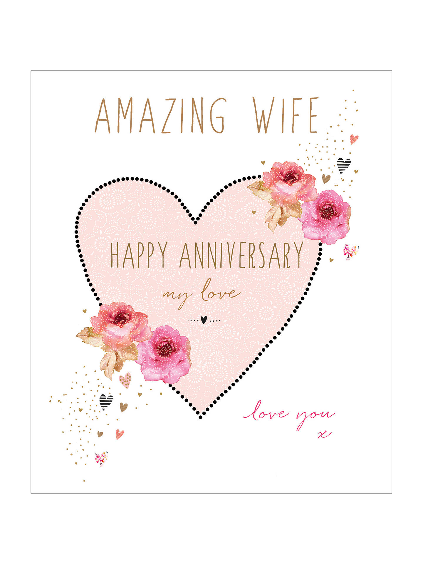 Portfolio Amazing Wife Anniversary Card At John Lewis Partners