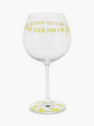 Dartington Crystal Gin Time Let The Good Times Be Copa Gl 643ml