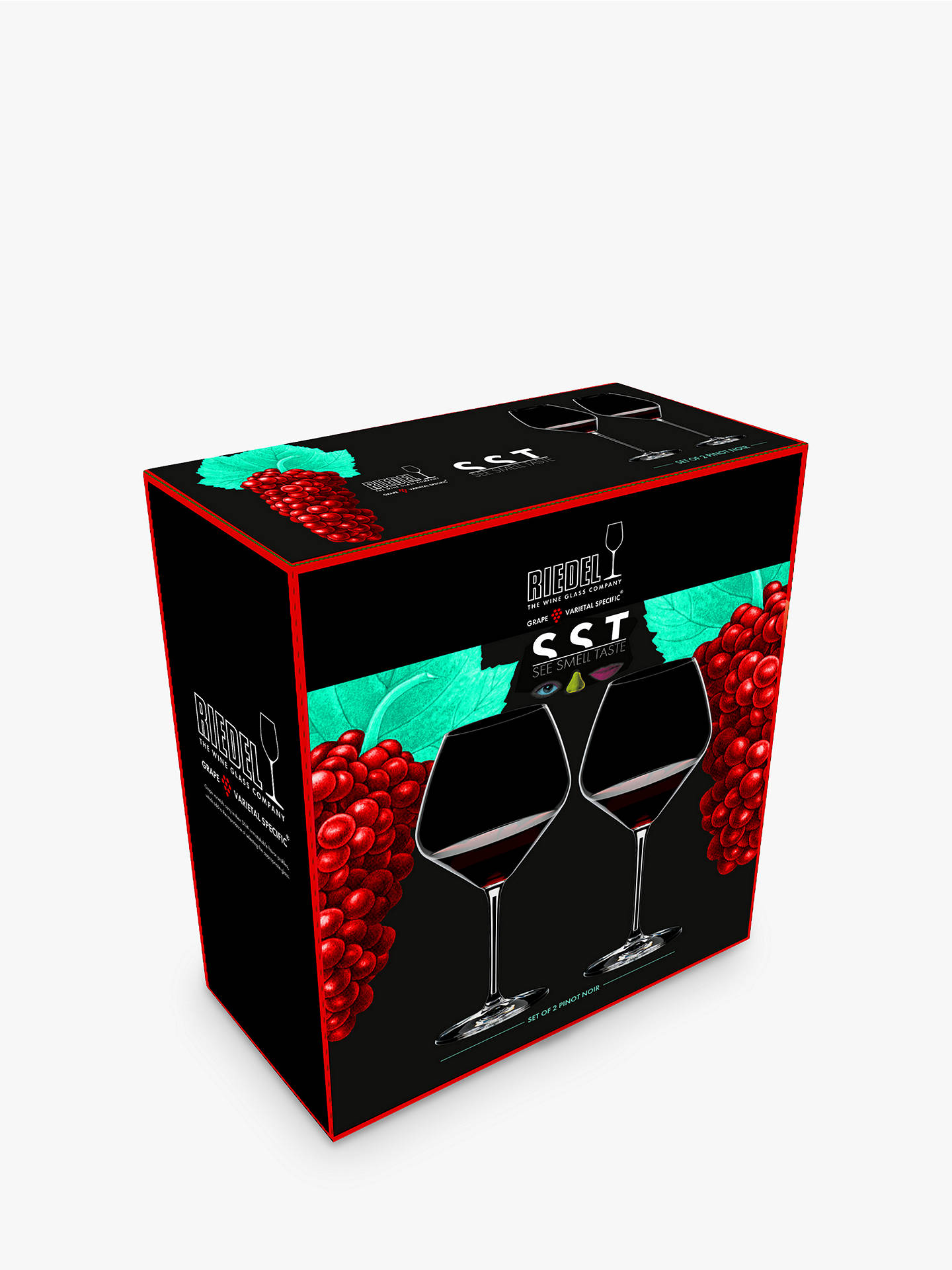 BuyRiedel See Smell Taste Pinot Noir Crystal Wine Glass, Set of 2, 770ml, Clear Online at johnlewis.com