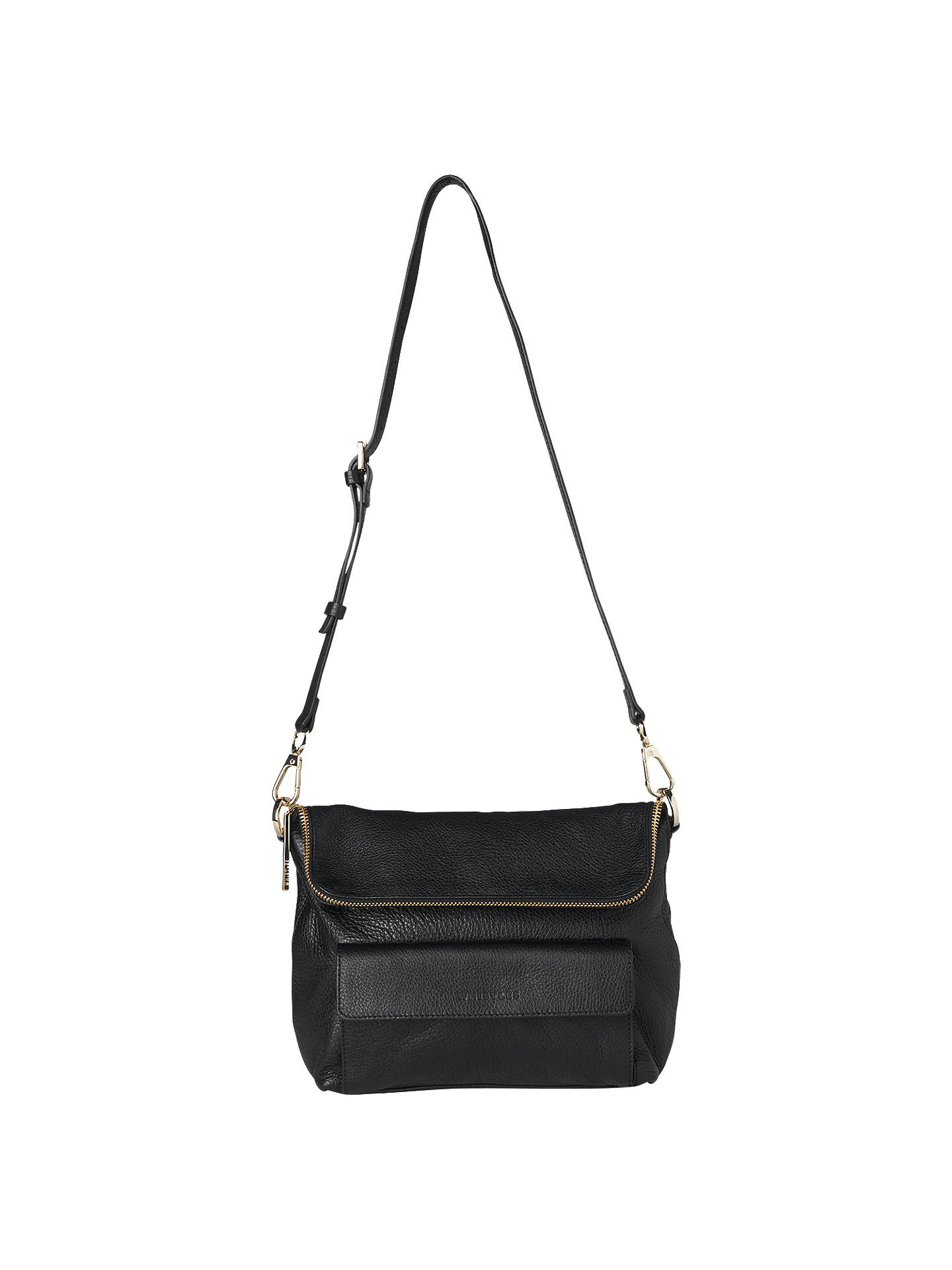 Whistles Verity Leather Cross Body Bag at John Lewis   Partners ddf7f0f56db6a