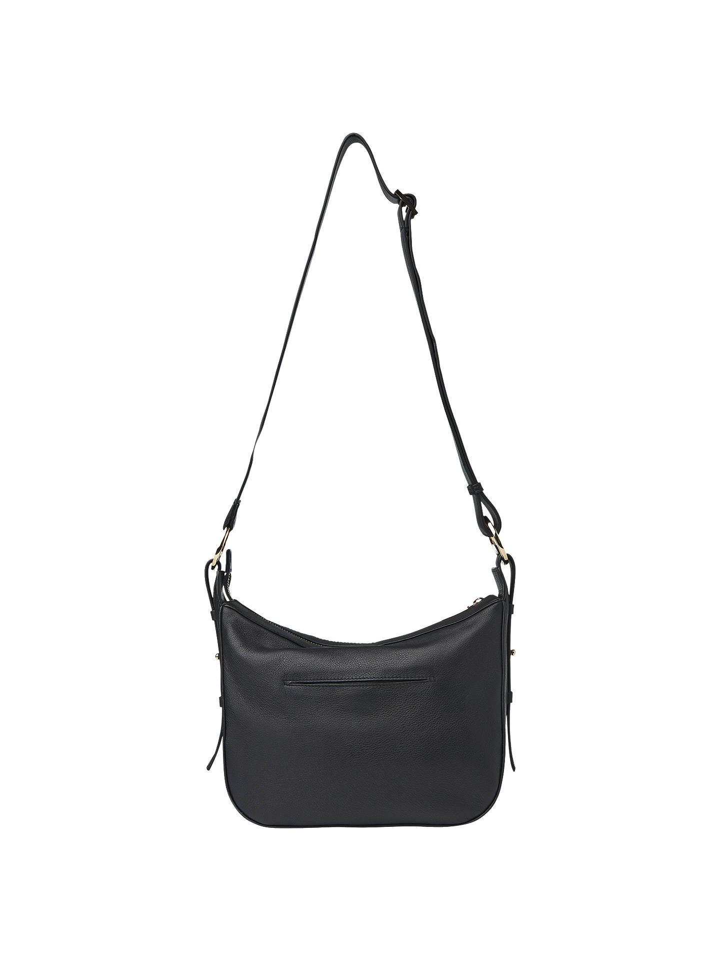 ... BuyWhistles Arlo Leather Triple Stud Shoulder Bag e12343db554af