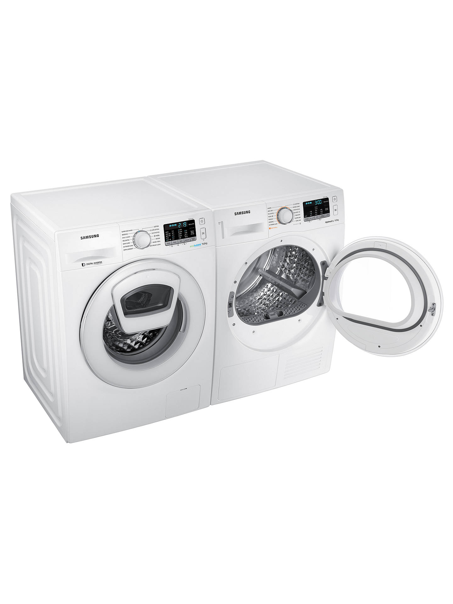 BuySamsung DV90M5000IW/EU Condenser Tumble Dryer with Heat Pump, 9kg Load, A++ Energy Rating, White Online at johnlewis.com