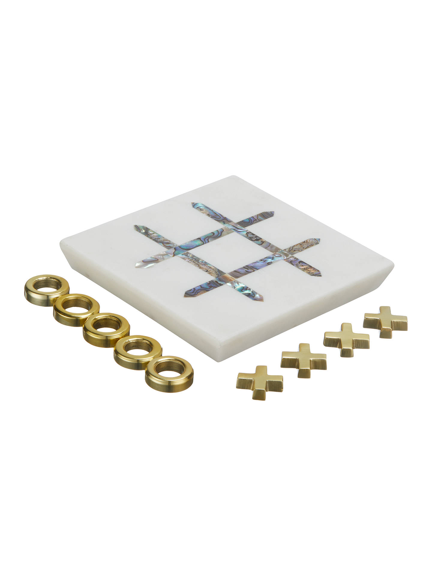 BuyJohn Lewis & Partners Noughts And Crosses, Gold/White Online at johnlewis.com