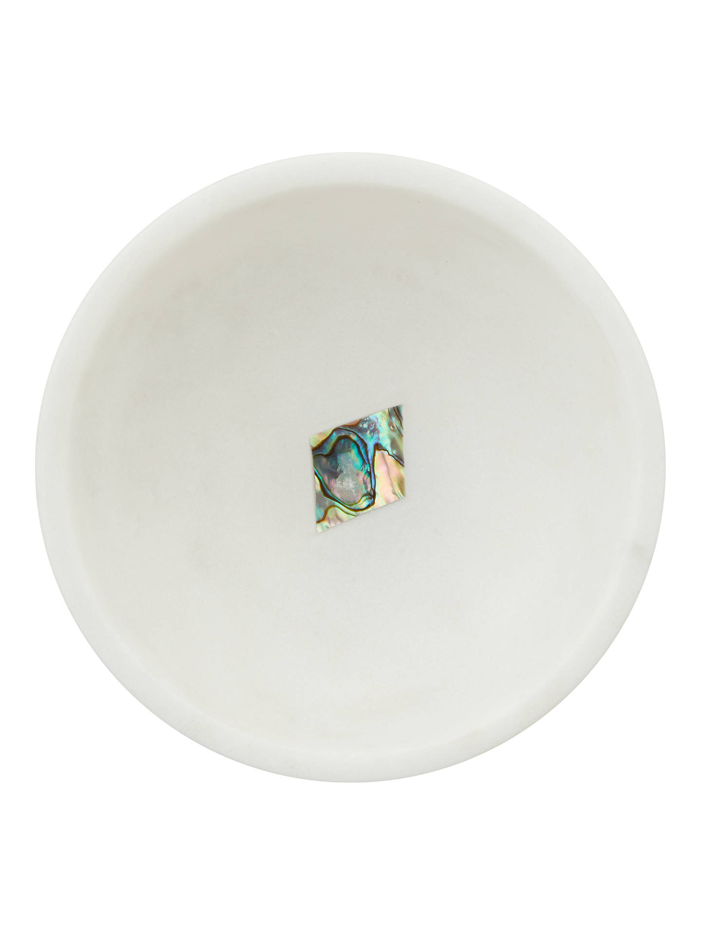 BuyJohn Lewis & Partners Marble Trinket Dish With Diamond, White Online at johnlewis.com