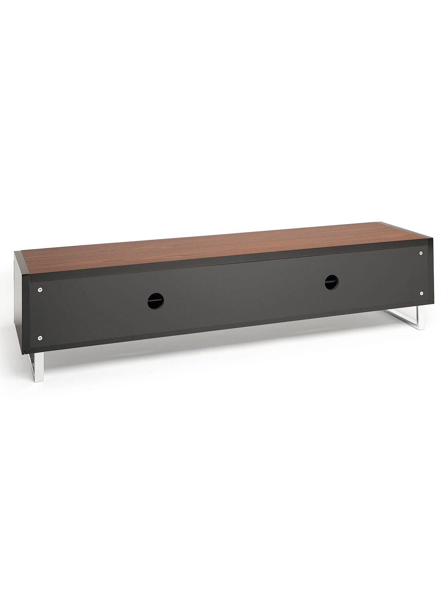 "Buy Techlink Panorama PM160 TV Stand for TVs up to 80"" with Double Sided Top, Walnut/Black Online at johnlewis.com"