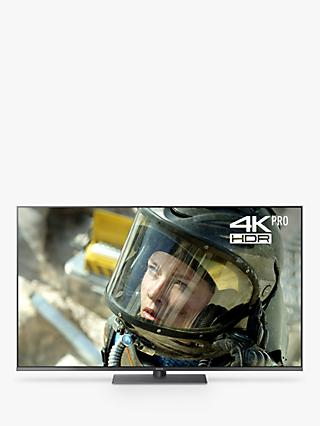 "Panasonic TX-55FX750B LED HDR 4K Ultra HD Smart TV, 55"" with Freeview Play/Freesat HD & Art Glass Design, Black"