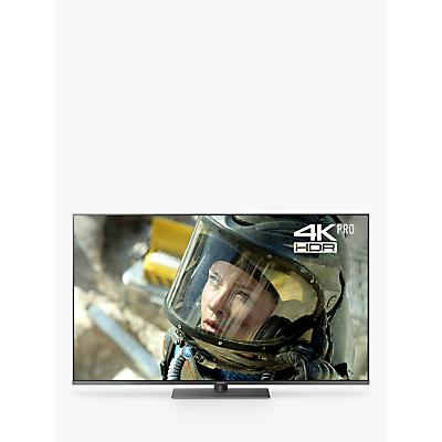 Panasonic TX-49FX750B LED HDR 4K Ultra HD Smart TV, 49 with Freeview Play/Freesat HD & Art Glass Design, Black