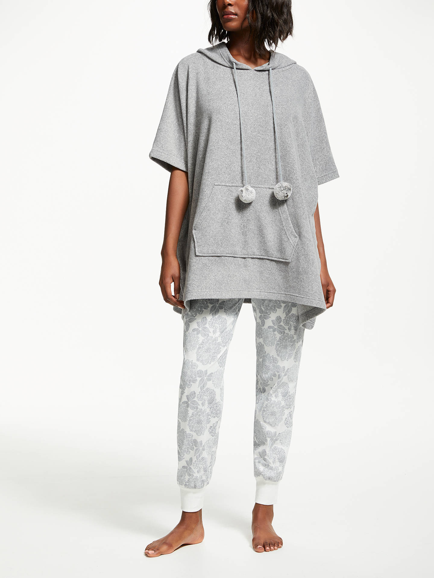 BuyJohn Lewis & Partners Fleece Poncho, Grey Online at johnlewis.com