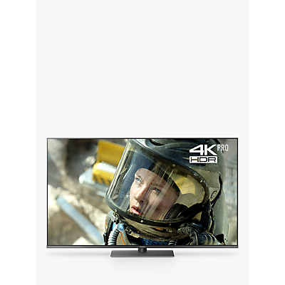 Panasonic TX-65FX750B LED HDR 4K Ultra HD Smart TV, 65 with Freeview Play/Freesat HD & Art Glass Design, Black