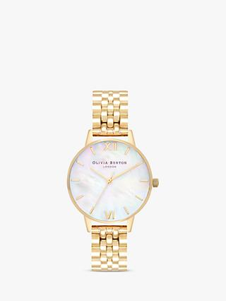 Olivia Burton Women's Mother of Pearl Dial Bracelet Strap Watch