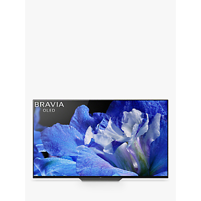 Sony Bravia KD55AF8 OLED HDR 4K Ultra HD Smart Android TV, 55 with Freeview HD, Youview, Acoustic Surface & One Slate Design, Black