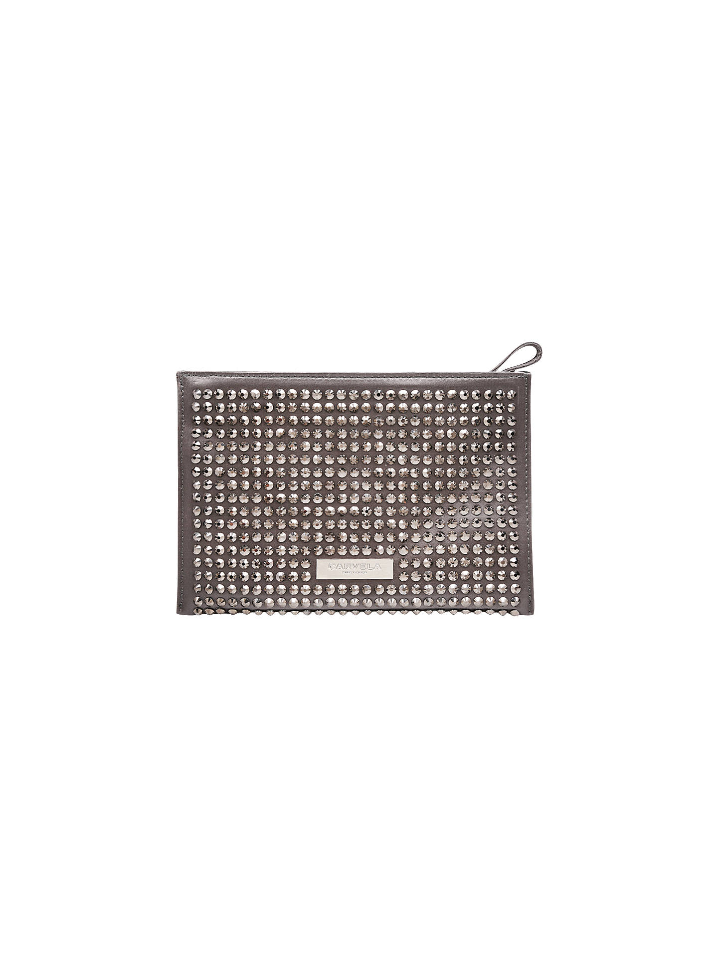 BuyCarvela Gianni Pouch Clutch Bag, Grey Online at johnlewis.com