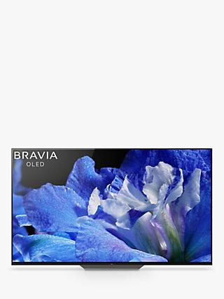 "Sony Bravia KD65AF8 OLED HDR 4K Ultra HD Smart Android TV, 65"" with Freeview HD, Youview, Acoustic Surface & One Slate Design, Black"