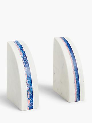 John Lewis Partners Marble Book Ends White