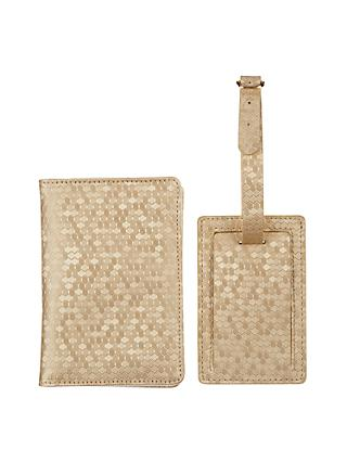 John Lewis Honeycomb Passport Cover & Luggage Tag