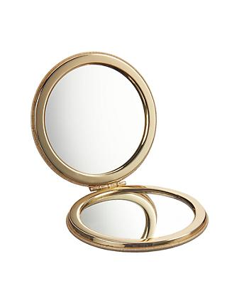 John Lewis & Partners Compact Mirror, Honeycomb Gold
