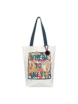 John Lewis Where To Next Tote Bag