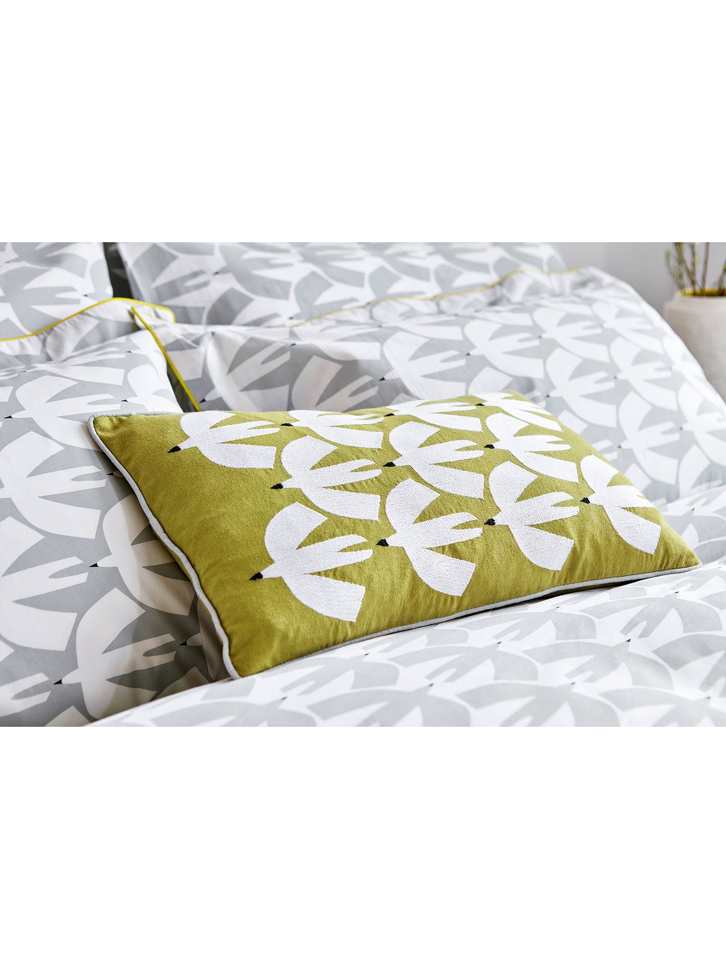 BuyScion Pajaro Cushion, Grey / Saffron Online at johnlewis.com