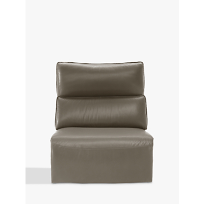 Natuzzi Stupore 001 Modular Armless Leather Armchair