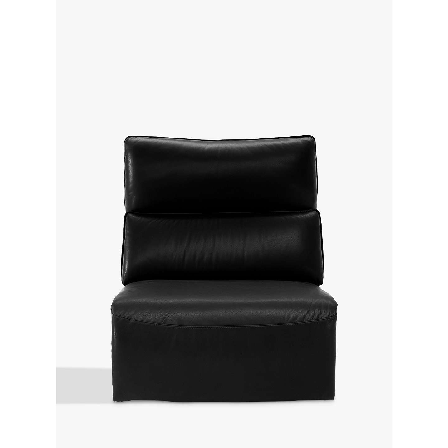 armless leather chairs. BuyNatuzzi Stupore 001 Modular Armless Leather Armchair, Dream Black Online At Johnlewis.com Chairs H