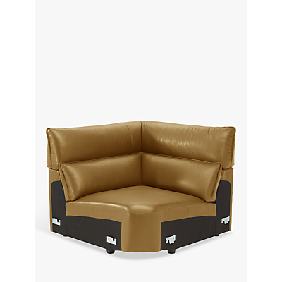 Natuzzi Stupore 011 Square Leather Modular Corner Unit