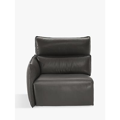 Natuzzi Stupore 402 RHF Leather Modular Sofa Unit with Power Motion