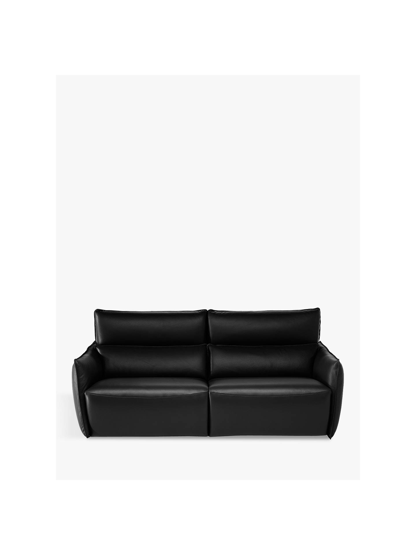 ff42c0b495f2 Buy Natuzzi Stupore 446 Leather Small 2 Seater Sofa with Power Motion,  Dream Black Online ...