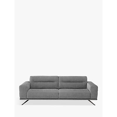 Natuzzi Timido 009 Large 3 Seater Fabric Sofa, Chrome Leg