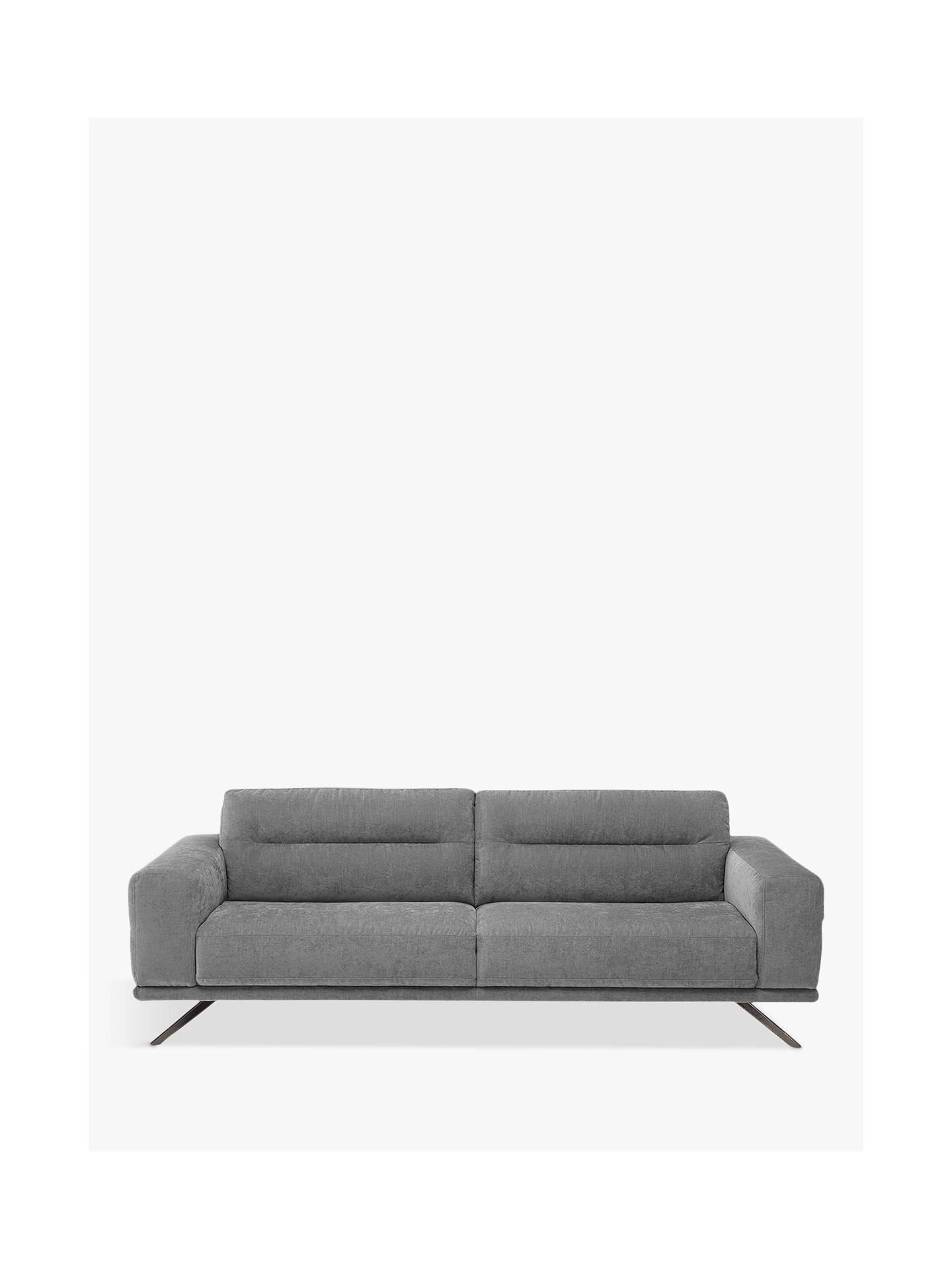 Natuzzi Timido 009 Large 3 Seater Fabric Sofa Chrome Leg Mistral Agave Online At