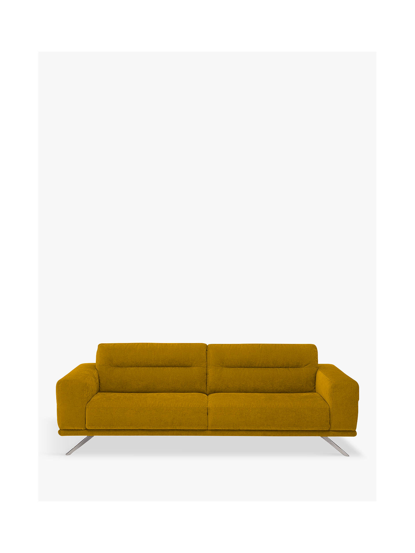 Natuzzi Timido 009 Large 3 Seater Fabric Sofa Nickel Leg Brezza Sunflower Online At