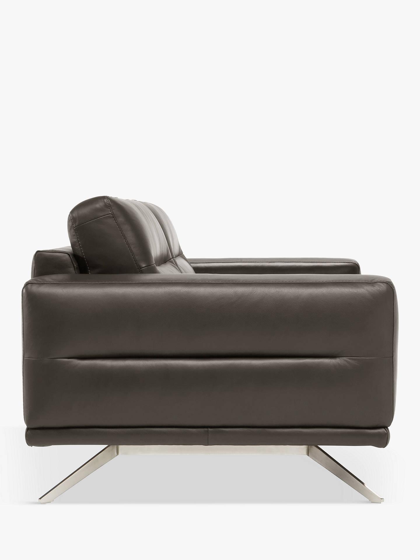 Super Natuzzi Timido 009 Large 3 Seater Leather Sofa Nickel Leg Download Free Architecture Designs Scobabritishbridgeorg