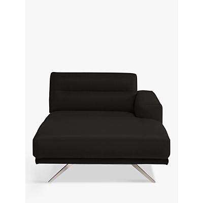 Natuzzi Timido 049 RHF Modular Fabric Chaise, Nickel Leg