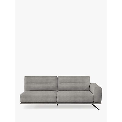 Natuzzi Timido 217 RHF Fabric Loveseat, Chrome Leg