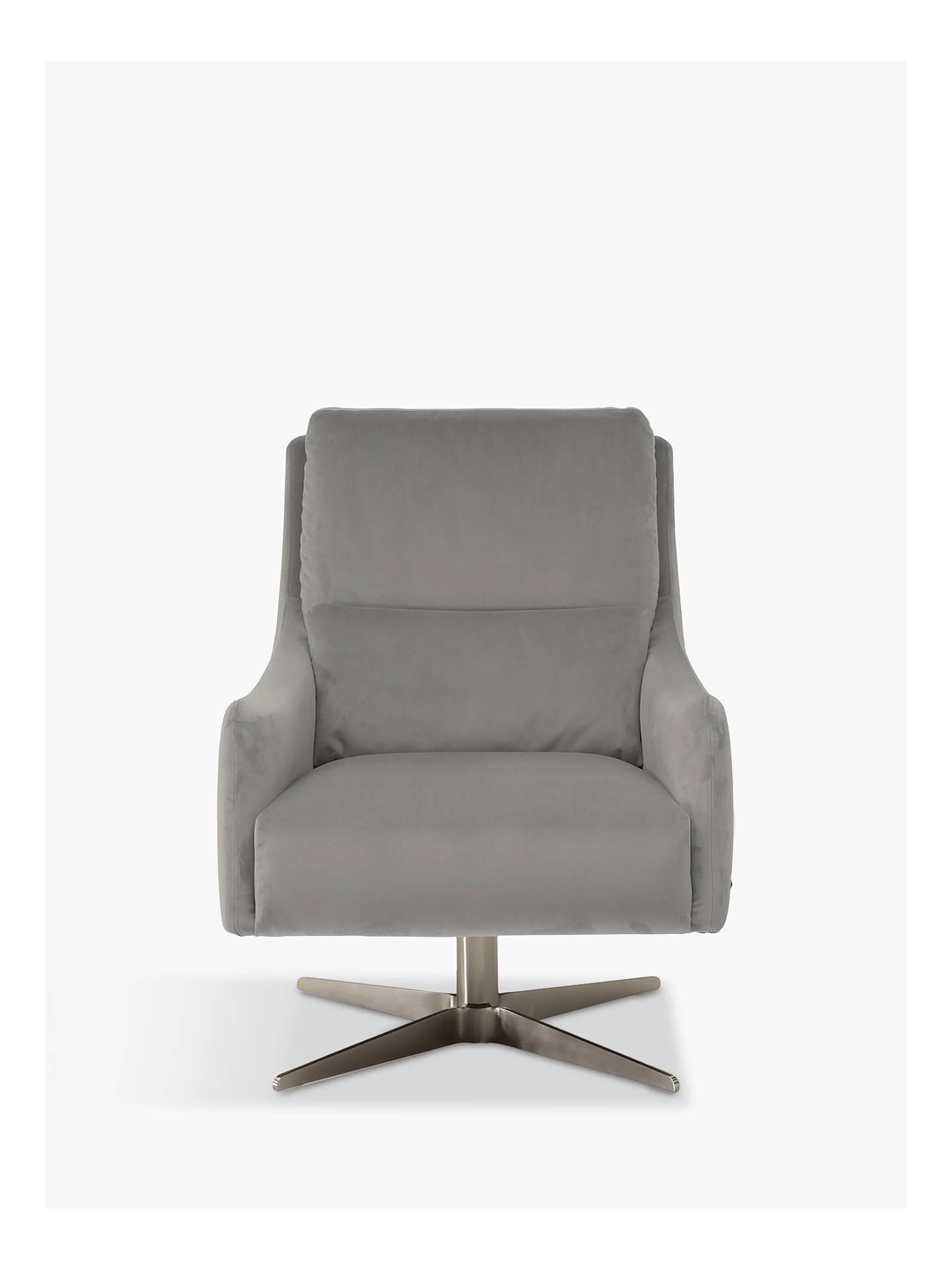 Natuzzi Gloria Fabric Swivel Armchair, Nickel Base at John ...
