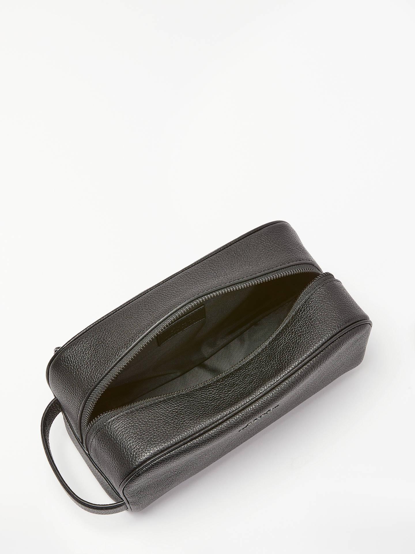 ... BuyPolo Ralph Lauren Pebble Leather Wash Bag, Black Online at  johnlewis.com ... 6b8115f9a6