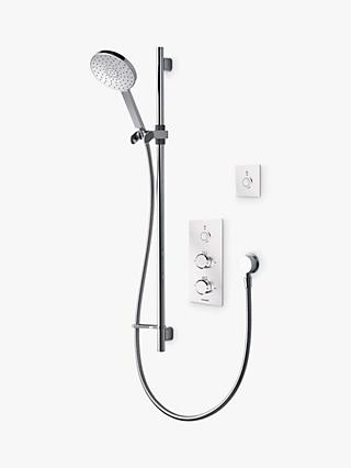 Aqualisa Infinia 1 Smart Shower with Remote and 140mm Handset, Silver