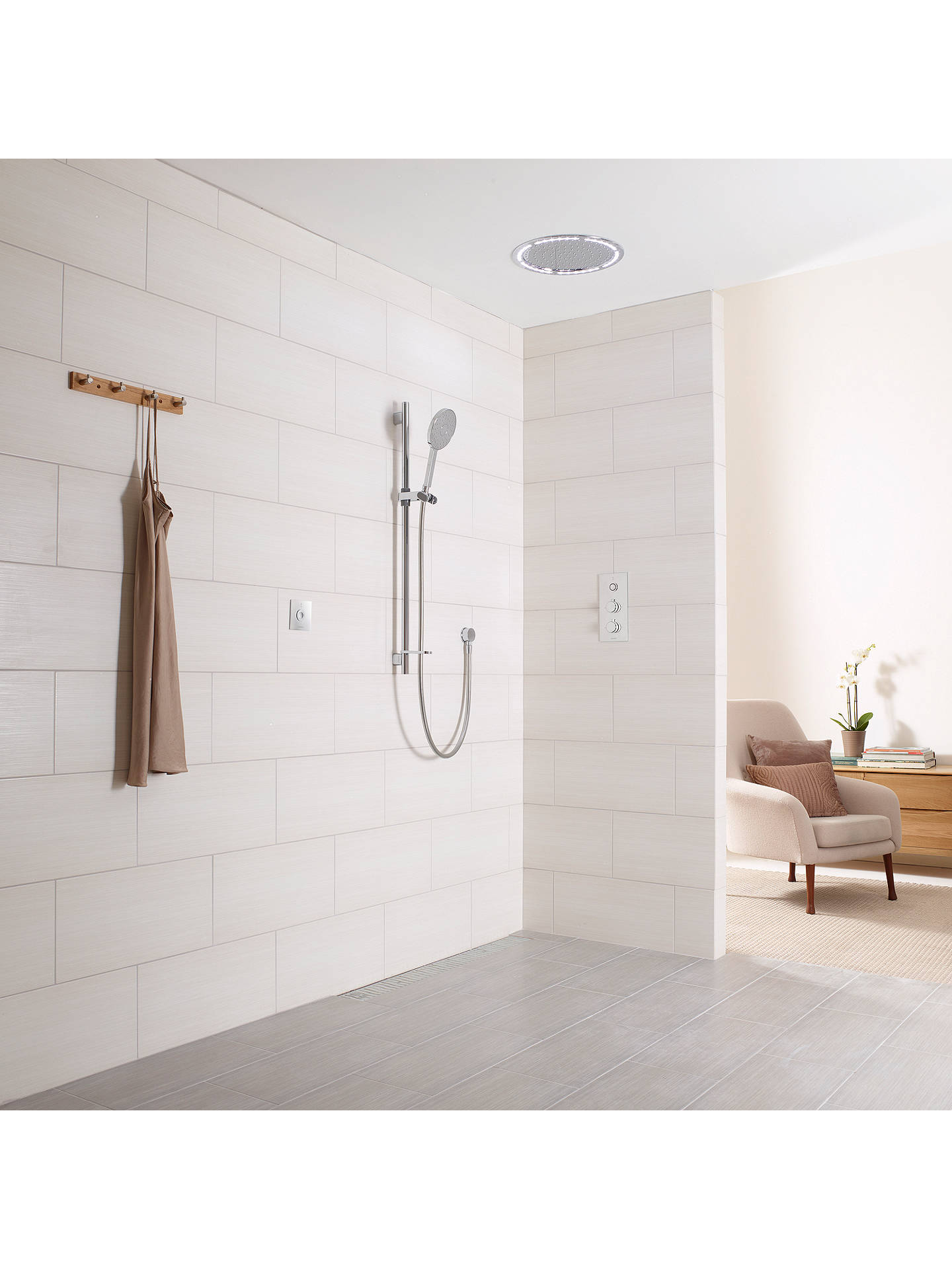 Buy Aqualisa Infinia 1 Smart Shower with Remote and 140mm Handset, Silver Online at johnlewis.com
