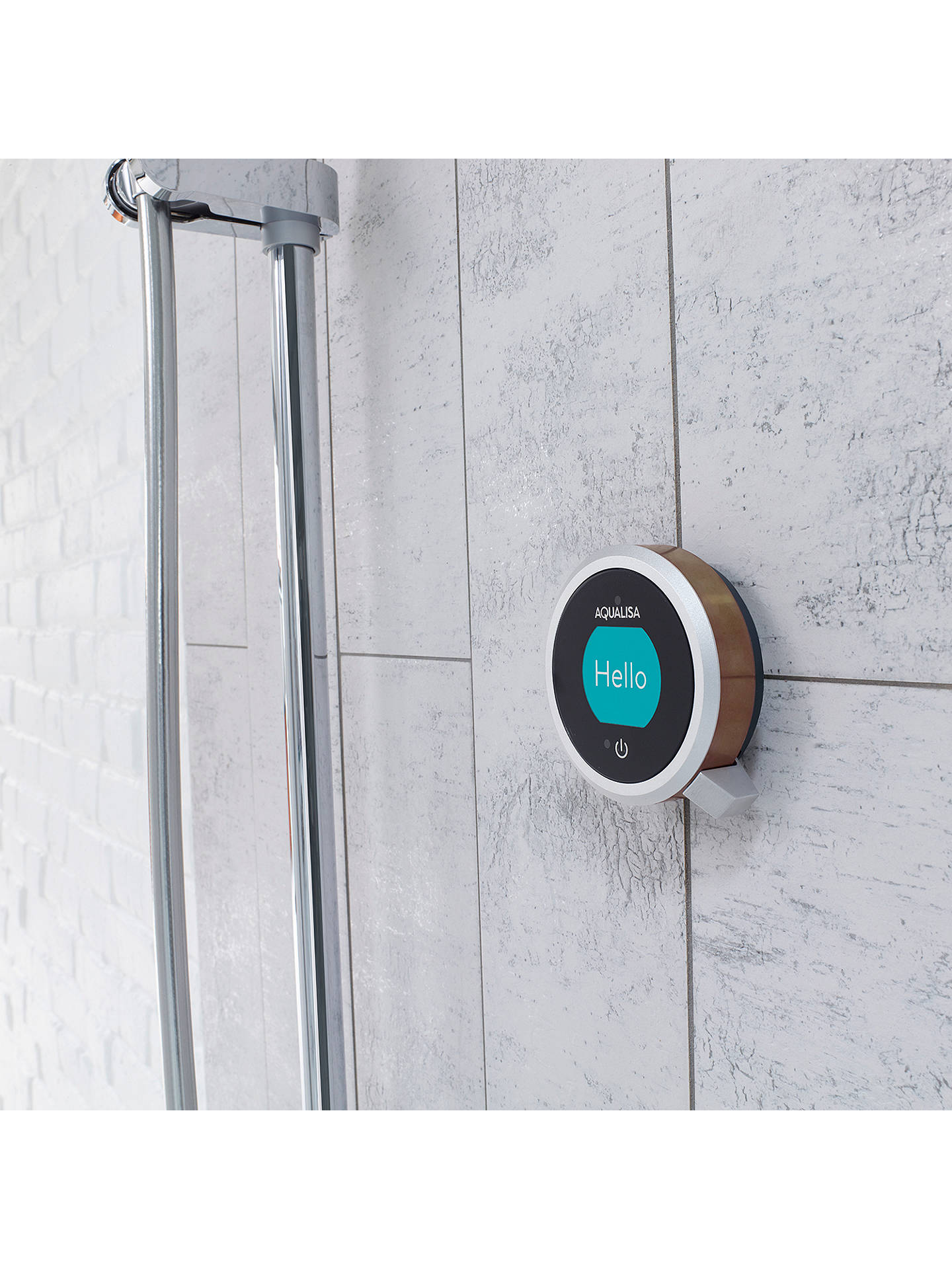 BuyAqualisa Q EDITION QES1 Smart Mixer and 130mm Vita Shower Handset, Silver Online at johnlewis.com