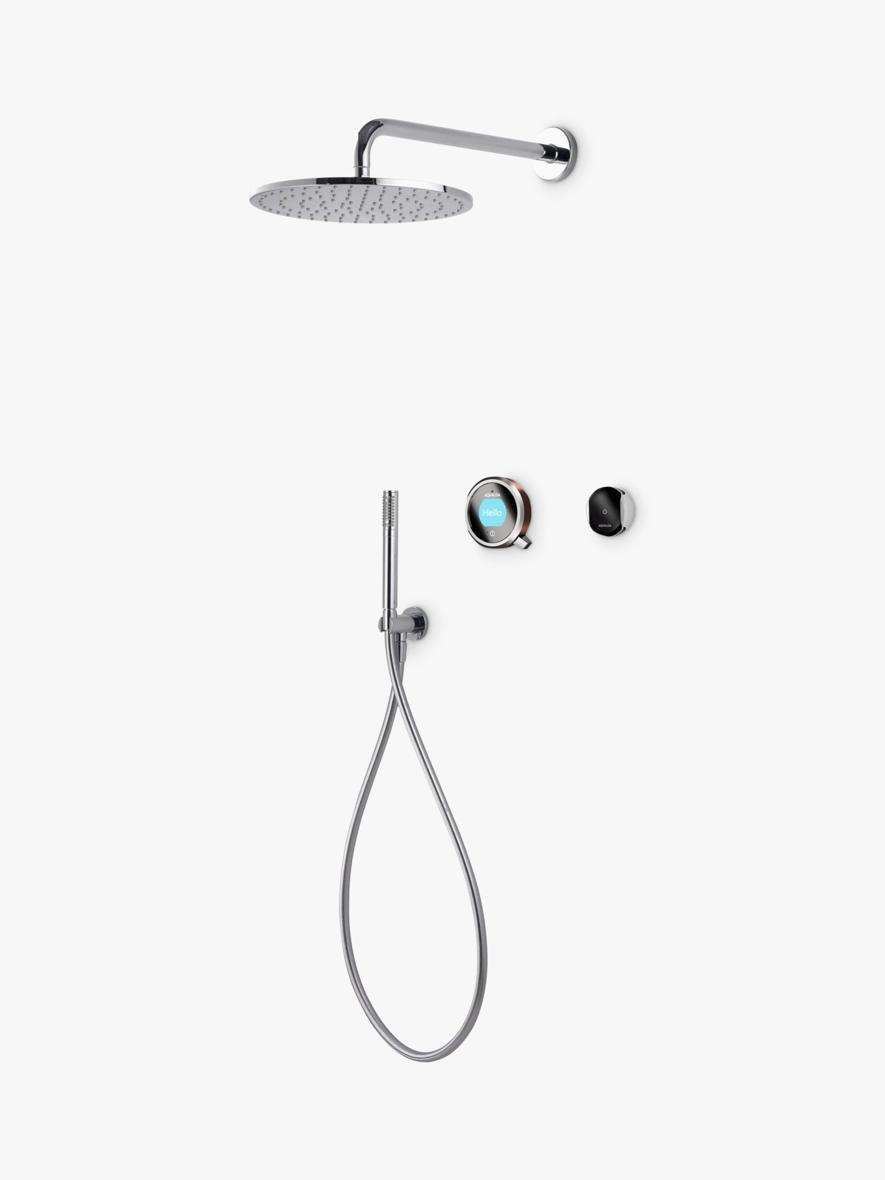 Aqualisa Aqualisa Q EDITION QES6 Smart Mixer with Shower Handset and Drencher, Silver