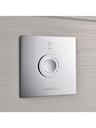 Buy Aqualisa Infinia 5 Smart Shower with Handset and 300mm Drencher, Silver Online at johnlewis.com