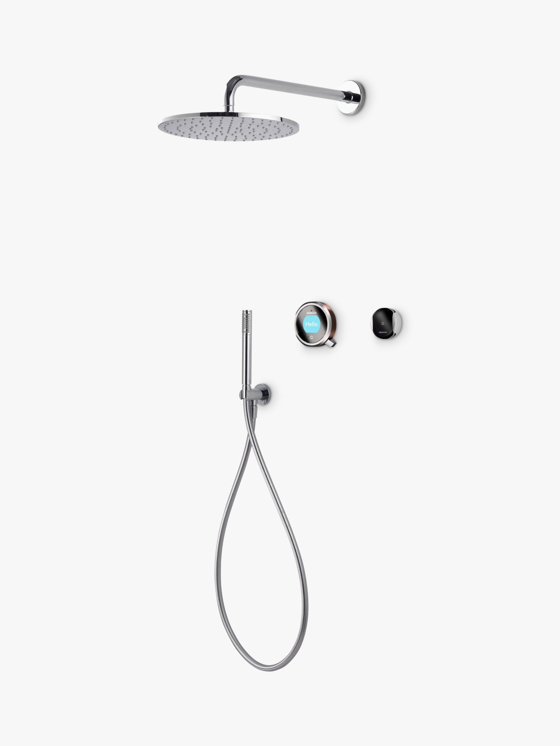 Aqualisa Aqualisa Q EDITION QES5 Smart Mixer with Shower Handset and Drencher, Silver