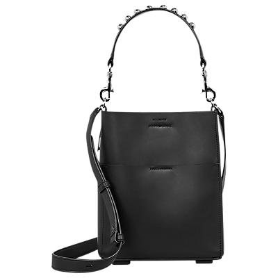AllSaints Suzi Mini Leather Tote Bag, Black