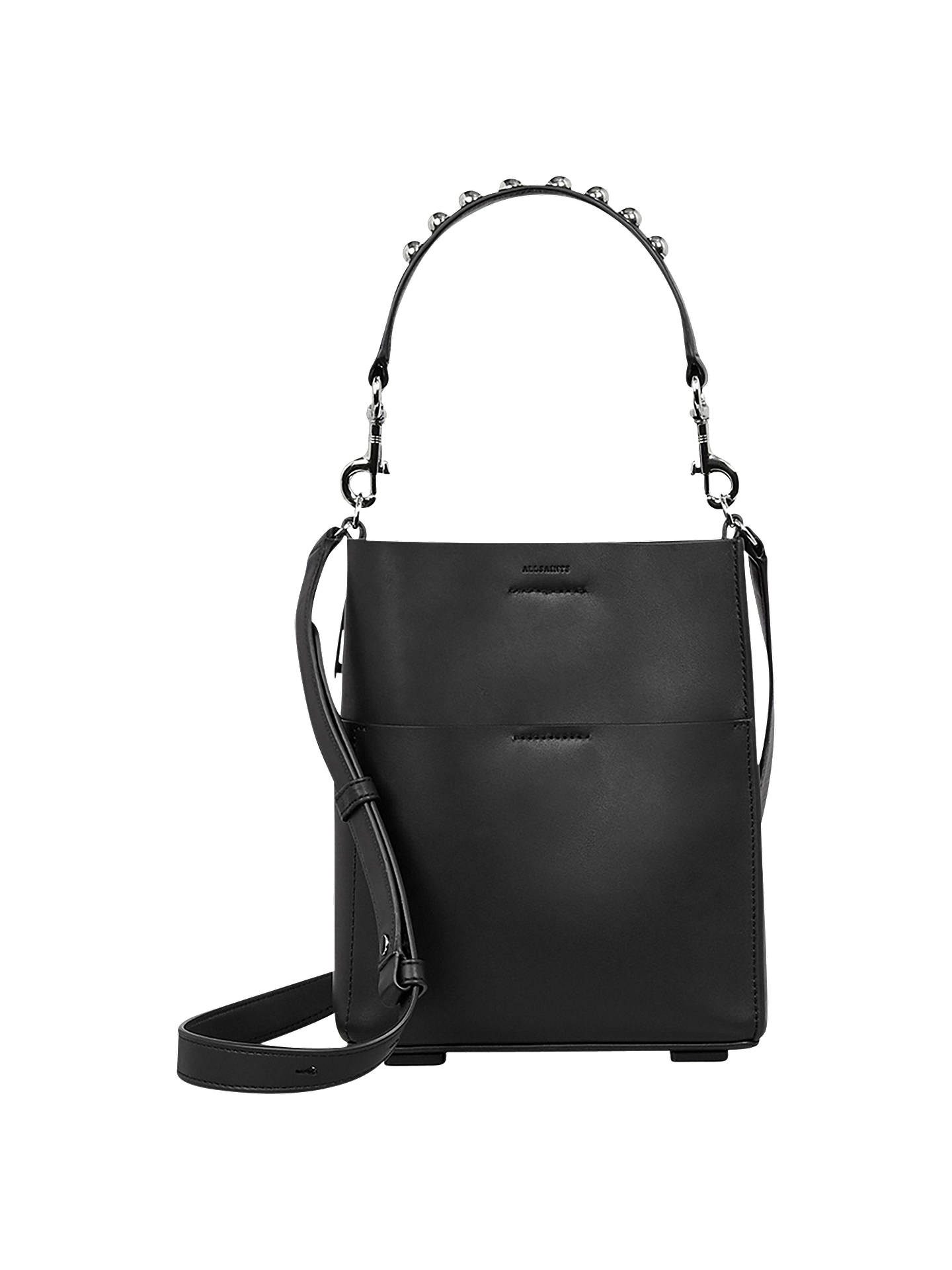 910ddec13 Buy AllSaints Suzi Mini Leather Tote Bag, Black Online at johnlewis.com ...