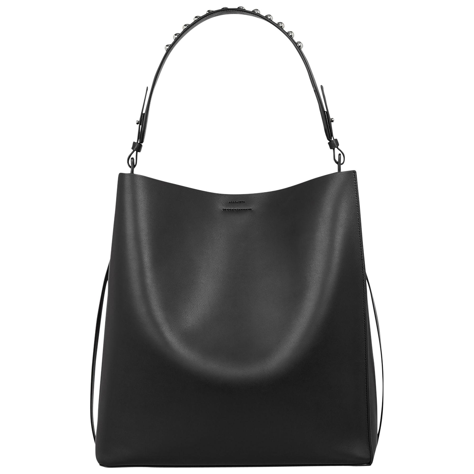 398fc46b2 AllSaints Suzi Leather North South Tote Bag at John Lewis & Partners