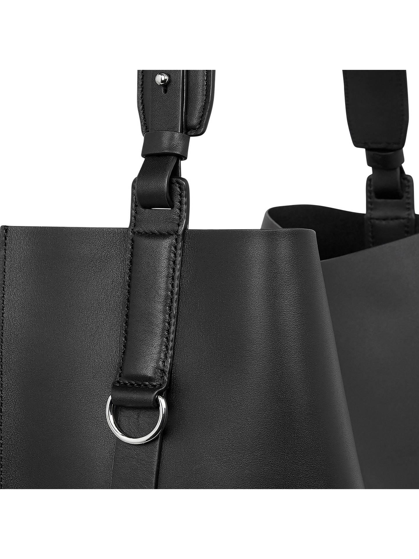 670183613 ... Buy AllSaints Suzi Leather North South Tote Bag, Black Online at  johnlewis.com ...