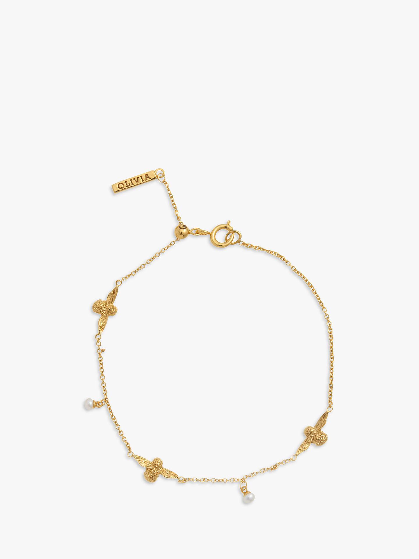 32fa45ec9f9c Olivia Burton Freshwater Pearl Bee Chain Bracelet at John Lewis ...