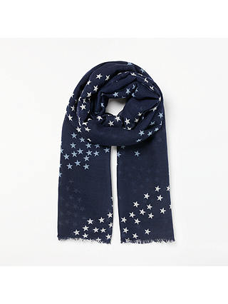 Buy Becksondergaard Infinite Stars Scarf, Blue Online at johnlewis.com