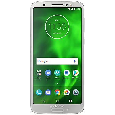 Image of Motorola g6 Dual SIM Smartphone, Android, 5.7, 4G LTE, SIM Free, 32GB