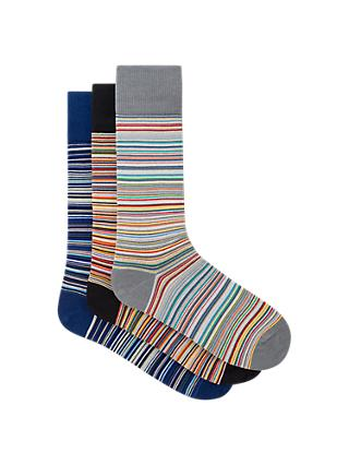 Paul Smith Signature Stripe Socks Gift Set, Pack of 3, Multi