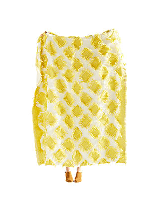 Buy Anthropologie Augusta Throw, Yellow Online at johnlewis.com
